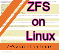 Using ZFS as the root filesystem on Fedora 25